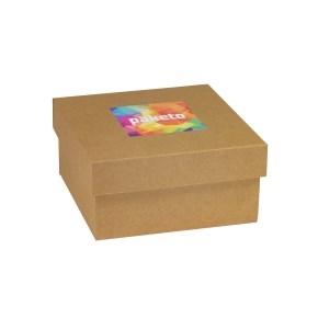 Darčeková krabička 200x200x100 mm, tlač na veko 100x100 mm, kraft