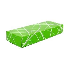Darčeková krabička 230x70x35/35 mm, zelená so vzorom na veku