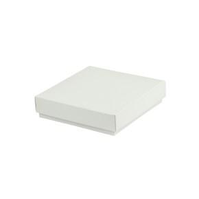Darčeková krabička dno a veko 100x100x25 mm, bielo/biela