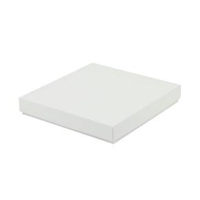 Darčeková krabička dno a veko 130x130x20 mm, bielo/biela