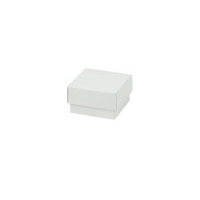 Darčeková krabička dno a veko 50x50x30 mm, bielo/biela