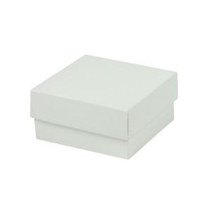 Darčeková krabička dno a veko 70x70x35 mm, bielo/biela