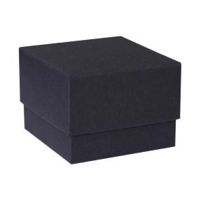 Darčeková krabička dno a veko 70x70x35 mm, čierna