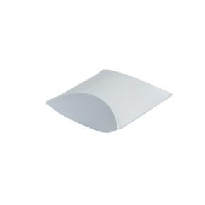 Darčeková krabička pukačka 100x120x40 mm, strieborná perleť