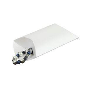 Darčeková krabička pukačka 140x130x40 mm, biela perleť