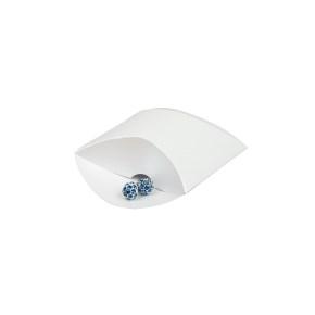 Darčeková krabička pukačka 50x90x30 mm, biela perleť