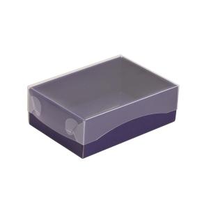 Darčeková krabička s priehľadným vekom 150x100x50/35 mm, fialová