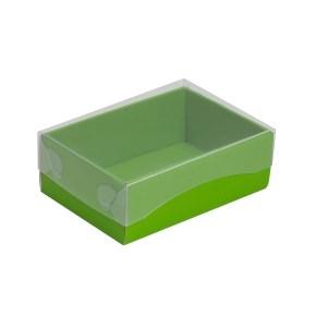 Darčeková krabička s priehľadným vekom 150x100x50/35 mm, zelená