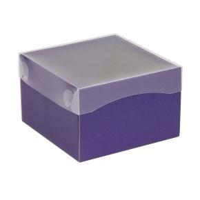 Darčeková krabička s priehľadným vekom 150x150x100 mm, fialová