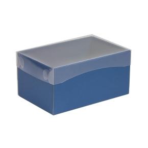 Darčeková krabička s priehľadným vekom 200x125x100 mm, modrá