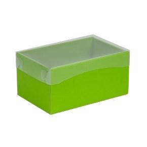 Darčeková krabička s priehľadným vekom 200x125x100 mm, zelená
