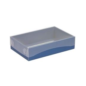 Darčeková krabička s priehľadným vekom 200x125x50 mm, modrá