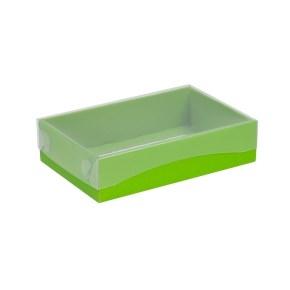 Darčeková krabička s priehľadným vekom 200x125x50 mm, zelená