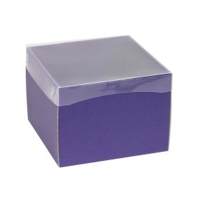 Darčeková krabička s priehľadným vekom 200x200x150 mm, fialová