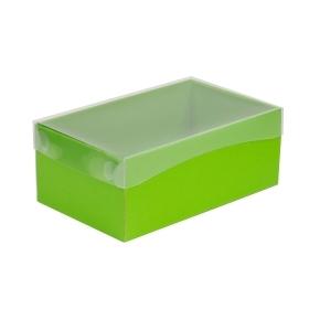Darčeková krabička s priehľadným vekom 250x150x100 mm, zelená