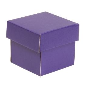 Darčeková krabička s vekom 100x100x100/40 mm, fialová