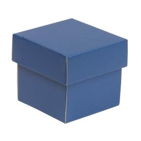 Darčeková krabička s vekom 100x100x100/40 mm, modrá