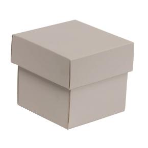 Darčeková krabička s vekom 100x100x100/40 mm, sivá