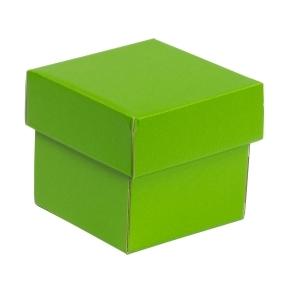 Darčeková krabička s vekom 100x100x100/40 mm, zelená