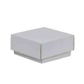 Darčeková krabička s vekom 100x100x50/40 mm, biela