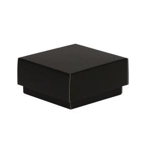 Darčeková krabička s vekom 100x100x50/40 mm, čierna