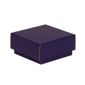 Darčeková krabička s vekom 100x100x50/40 mm, fialová
