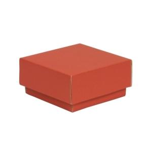 Darčeková krabička s vekom 100x100x50/40 mm, koralová