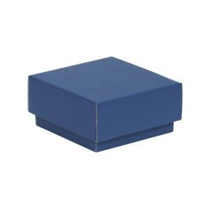 Darčeková krabička s vekom 100x100x50/40 mm, modrá