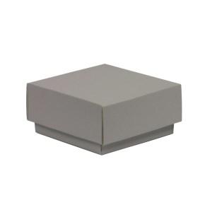 Darčeková krabička s vekom 100x100x50/40 mm, sivá