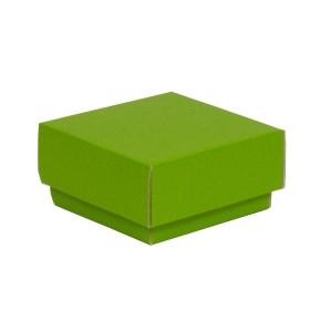Darčeková krabička s vekom 100x100x50/40 mm, zelená