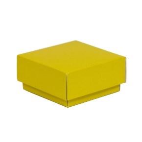 Darčeková krabička s vekom 100x100x50/40 mm, žltá