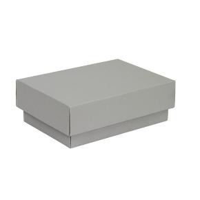Darčeková krabička s vekom 150x100x50/35 mm, šedá matná