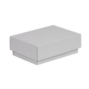 Darčeková krabička s vekom 150x100x50/40 mm, biela