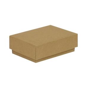 Darčeková krabička s vekom 150x100x50/40 mm, hnedá - kraft