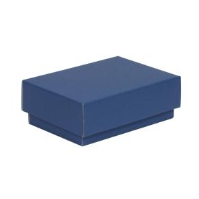 Darčeková krabička s vekom 150x100x50/40 mm, modrá