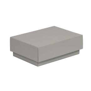 Darčeková krabička s vekom 150x100x50/40 mm, sivá