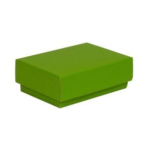 Darčeková krabička s vekom 150x100x50/40 mm, zelená