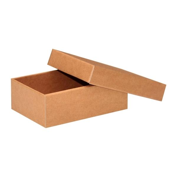 aab39e940 Darčeková krabička s vekom 150x100x50 mm, hnedá-kraft | paketo.sk