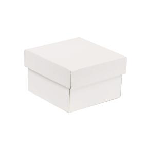 Darčeková krabička s vekom 150x150x100 mm, biela