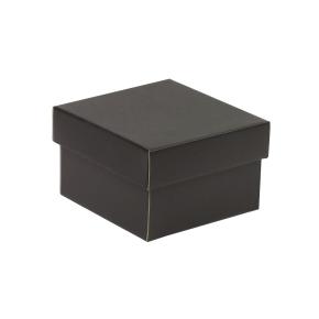 Darčeková krabička s vekom 150x150x100 mm, čierna