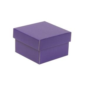 Darčeková krabička s vekom 150x150x100 mm, fialová