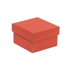 Darčeková krabička s vekom 150x150x100 mm, koralová