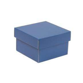 Darčeková krabička s vekom 150x150x100 mm, modrá