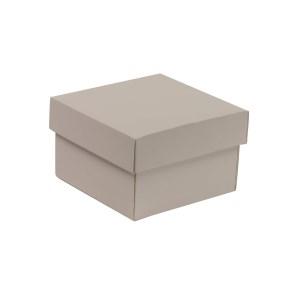Darčeková krabička s vekom 150x150x100 mm, sivá