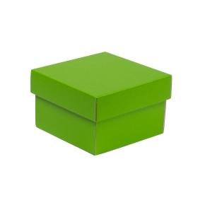Darčeková krabička s vekom 150x150x100 mm, zelená