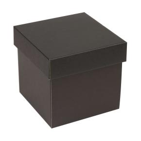 Darčeková krabička s vekom 150x150x150 mm, čierna