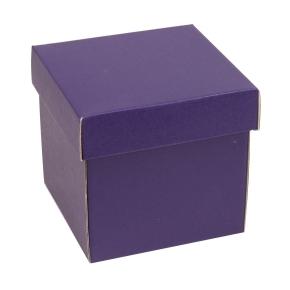 Darčeková krabička s vekom 150x150x150 mm, fialová