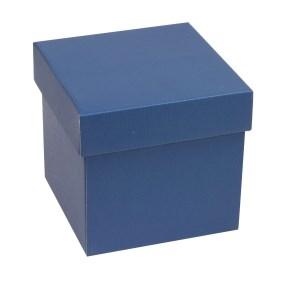 Darčeková krabička s vekom 150x150x150 mm, modrá