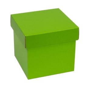 Darčeková krabička s vekom 150x150x150 mm, zelená