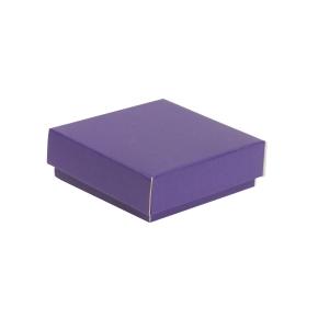Darčeková krabička s vekom 150x150x50/40 mm, fialová